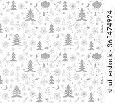 seamless christmas pattern.... | Shutterstock . vector #365474924