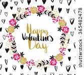 happy valentines day card.... | Shutterstock .eps vector #365482478