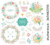 wedding vintage elements... | Shutterstock .eps vector #365482550