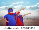 masked kids pretending to be... | Shutterstock . vector #365483318