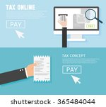 concepts for taxes  finance. ... | Shutterstock .eps vector #365484044