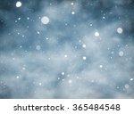 snow falling winter background   Shutterstock . vector #365484548