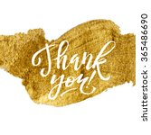 Shine Gold Foil Thank You Card...