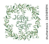 happy easter text inside... | Shutterstock . vector #365489894