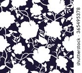 blue and white floral seamless... | Shutterstock .eps vector #365495378