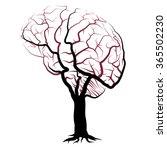 human brain vein network shaped ... | Shutterstock .eps vector #365502230