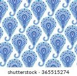 vector boho chic paisley... | Shutterstock .eps vector #365515274