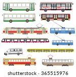 public transport vector set | Shutterstock .eps vector #365515976