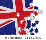 england uk wavy flag with white | Shutterstock . vector #365517800