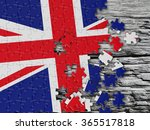 england uk wavy flag with stone | Shutterstock . vector #365517818