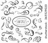 hand drawn decorative floral... | Shutterstock .eps vector #365529020