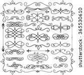 set of hand drawn black doodle... | Shutterstock .eps vector #365530610