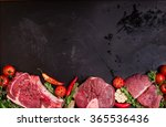 Raw Juicy Meat Steaks Ready For ...