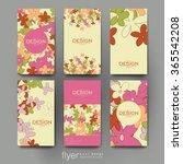 floral abstract vector brochure ... | Shutterstock .eps vector #365542208