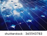 photovoltaic with cloudy sky... | Shutterstock . vector #365543783