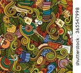 cartoon hand drawn doodles on... | Shutterstock .eps vector #365547998