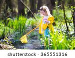 child playing outdoors.... | Shutterstock . vector #365551316