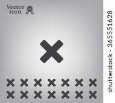 medical cross icon   Shutterstock .eps vector #365551628