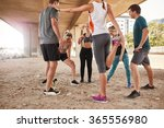 group of young friends... | Shutterstock . vector #365556980