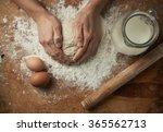close up of baker hands... | Shutterstock . vector #365562713
