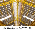 Yellow Steel Under Roof...