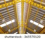 Yellow Steel Under Roof...