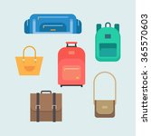 bags vector set in a flat style.... | Shutterstock .eps vector #365570603