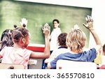 back view of primary classroom. | Shutterstock . vector #365570810