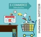e commerce. online business.... | Shutterstock .eps vector #365572238