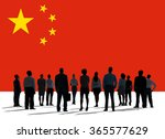 china national flag group of... | Shutterstock . vector #365577629
