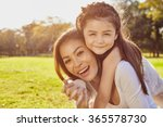 lifestyle portrait mom and... | Shutterstock . vector #365578730