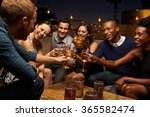 group of friends enjoying night ... | Shutterstock . vector #365582474