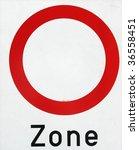 pedestrian zone - stock photo