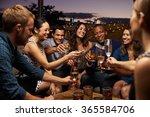 group of friends enjoying night ... | Shutterstock . vector #365584706