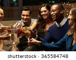 group of friends enjoying night ... | Shutterstock . vector #365584748