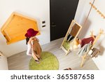 young asian woman choosing the... | Shutterstock . vector #365587658
