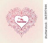 ornate vector heart in eastern... | Shutterstock .eps vector #365597444