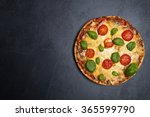 pizza on stone background | Shutterstock . vector #365599790
