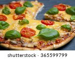 pizza on stone background | Shutterstock . vector #365599799