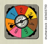 vintage game spinner with... | Shutterstock .eps vector #365603750