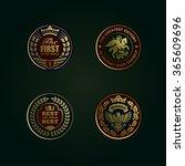 heraldic stamp ribbon banner...   Shutterstock .eps vector #365609696