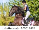 portrait of equine sportswoman... | Shutterstock . vector #365614490