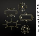 flourishes calligraphic frame.... | Shutterstock .eps vector #365615156