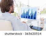 desinger working on his... | Shutterstock . vector #365620514