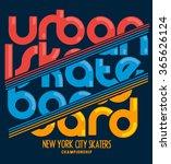 skateboard  skater  message ... | Shutterstock .eps vector #365626124