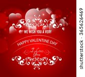 happy valentines day gift card... | Shutterstock .eps vector #365626469