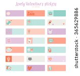 collection of valentines day... | Shutterstock .eps vector #365629886