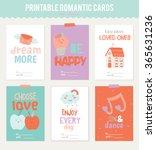 valentines day calligraphic... | Shutterstock .eps vector #365631236