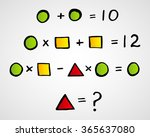 geometric figures  mathematics | Shutterstock .eps vector #365637080