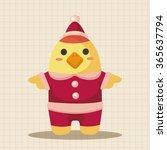 animal chicken cartoon... | Shutterstock .eps vector #365637794